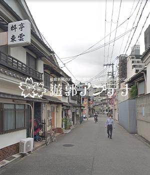 松島新地の工場・交差点・神社通り通り